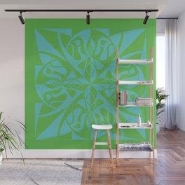Think Mandala - Green Blue Wall Mural