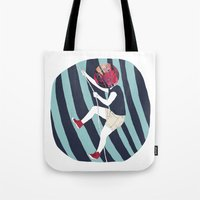 into the wild Tote Bags featuring WILD by Mireia Mullor