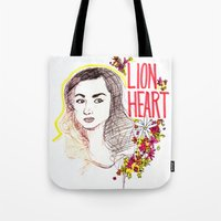 allison argent Tote Bags featuring Queen Argent by Grit Spit and a Whole Lot of Duct tape