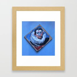 tiny portrait of man in ruff Framed Art Print