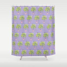 Lemon Tree patten Shower Curtain