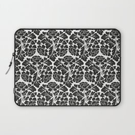 William Morris style Black & white pattern Laptop Sleeve