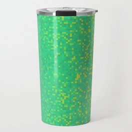 Green Yellow Pixilated Gradient Travel Mug