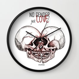 no gender just love Wall Clock