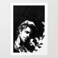 tom waits Art Prints featuring Tom Waits by maxandr