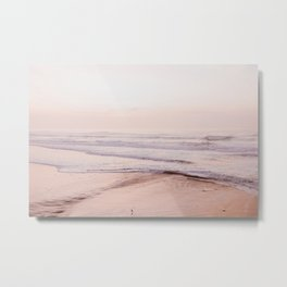 Dreamy Pink Pacific Beach Metal Print