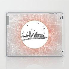 Houston, Texas City Skyline Illustration Drawing Laptop & iPad Skin