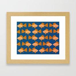 Funky Fish Pattern Framed Art Print