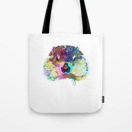 Splash Groundhog Tote Bag