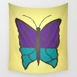 Stained Glass Butterfly Wall Tapestry