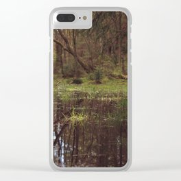 Forest Swamp Clear iPhone Case
