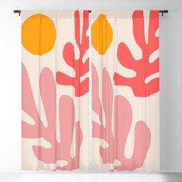 Henri Matisse - Leaves - Blush Blackout Curtain