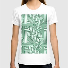 Sketchy Abstract (Olive & White Pattern) T-shirt
