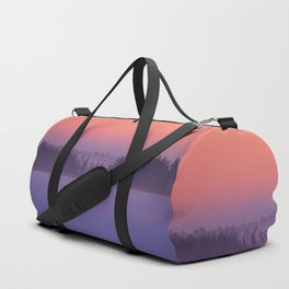 Foggy Winter Evening With Beautiful Sunset Colors In The Sky #decor #buyart #society6 Duffle Bag
