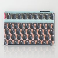 mad men iPad Cases featuring Mad Men Typewriter by Kookyphotography
