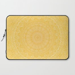 The Most Detailed Intricate Mandala (Mustard Yellow) Maze Zentangle Hand Drawn Popular Trending Laptop Sleeve