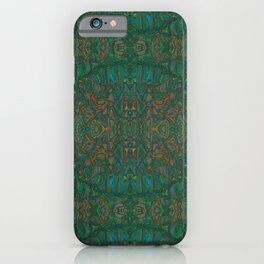 Copper Green Verdigris Abstract Watercolor iPhone Case