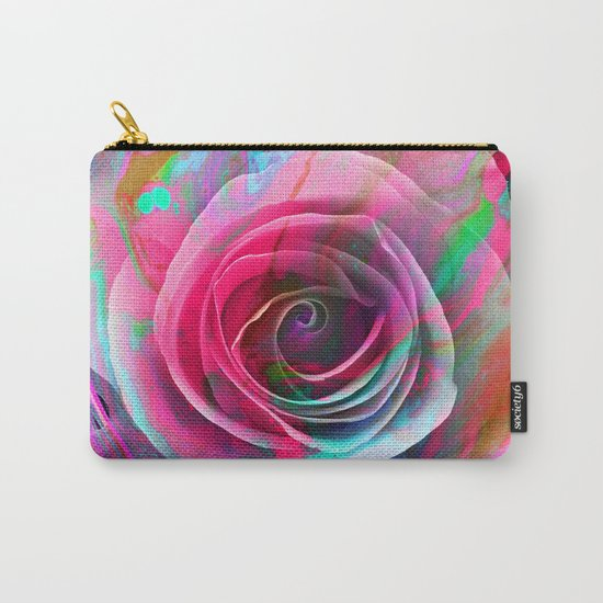 Marble Colored Rose Carry-All Pouch