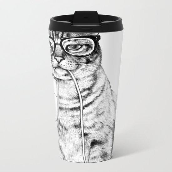 Mac Cat Metal Travel Mug