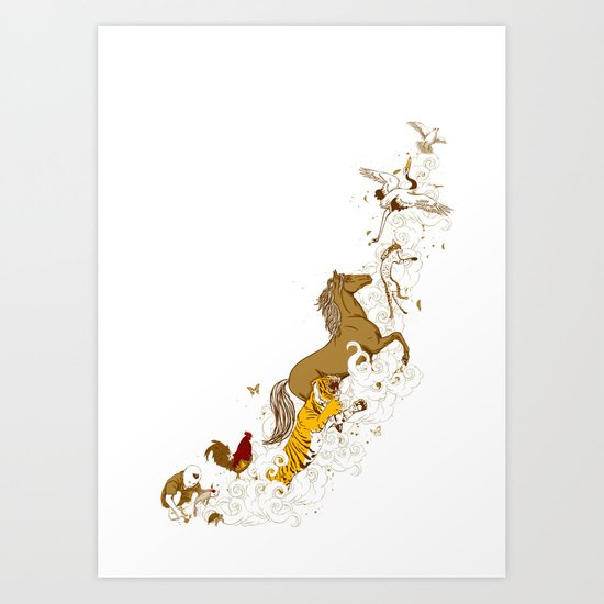 Magic paintbrush Art Print