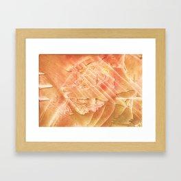 Sandy brown vague watercolor Framed Art Print