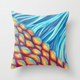 Scales and Fins Throw Pillow