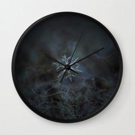 Real snowflake macro photo - Rigel Wall Clock