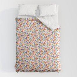 Rainbow Watercolor Circles Comforters