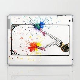 Kicking Up The Color Swing Laptop & iPad Skin