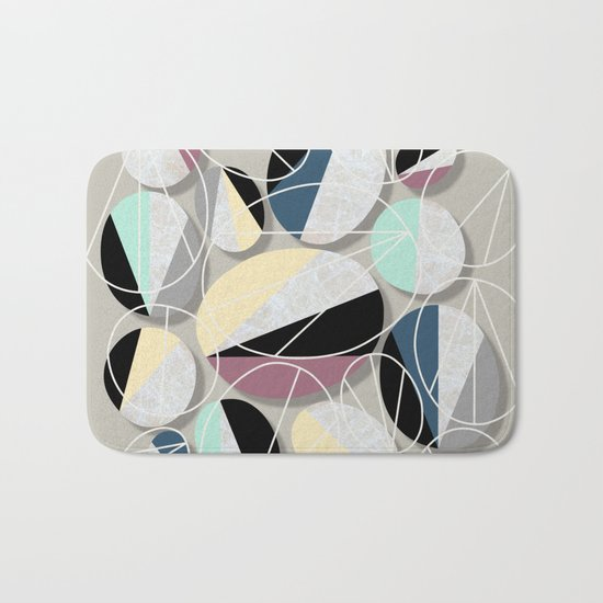 Stones and Outlines Bath Mat