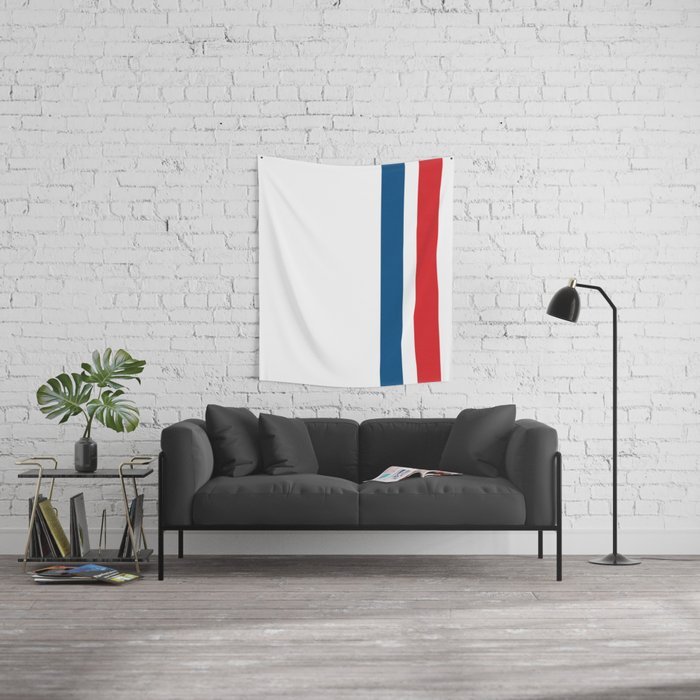 McQueen – Red and Blue Stripes Wall Tapestry
