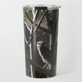 Burrowing Owl in a Tree Travel Mug