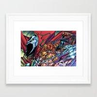 spawn Framed Art Prints featuring Spawn & Angela & She-Spawn by J Skipper