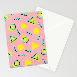 Memphis pattern 60 Stationery Cards