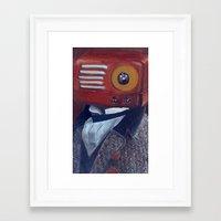 radiohead Framed Art Prints featuring Radiohead by Daniela Albert