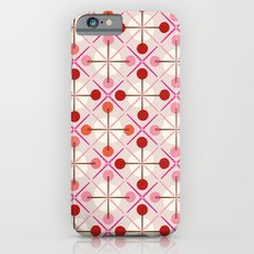 Crosses & Dots (red + pink) iPhone 6s Slim Case
