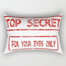 Top Secret For Your Eyes Only Rectangular Pillow