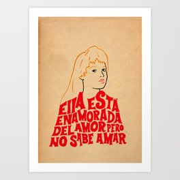 She's in love with love Art Print