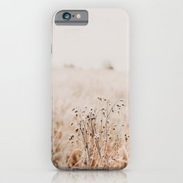 Dried Field Pastel Photography iPhone Case