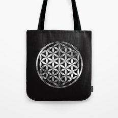 Flower Of Life (Chrome) Tote Bag