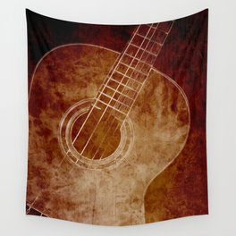 The Color of Music - Guitar Wall Tapestry