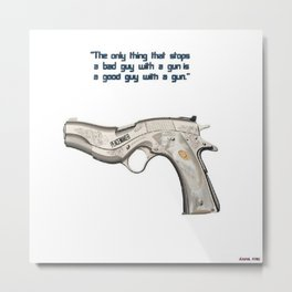 American Problems Pop-Art Gun Series #7 by Jéanpaul Ferro - Good Guy with Gun Metal Print