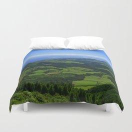 Green coastal landscape Duvet Cover
