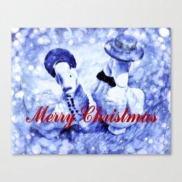 A Blue Christmas Canvas Print