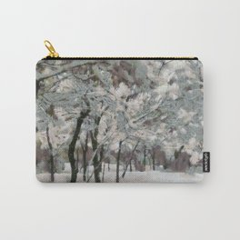 Trees covered in snow Carry-All Pouch
