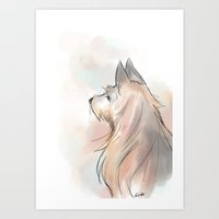terrier Art Prints featuring Terrier by Eviko