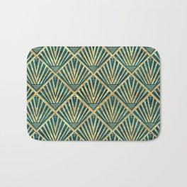 Stylish geometric diamond palm art deco inspired Bath Mat