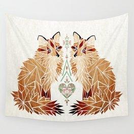 fox love Wall Tapestry
