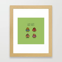 Turdles (Not in Half-Shells) Framed Art Print