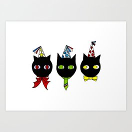 Chats fêtes Art Print